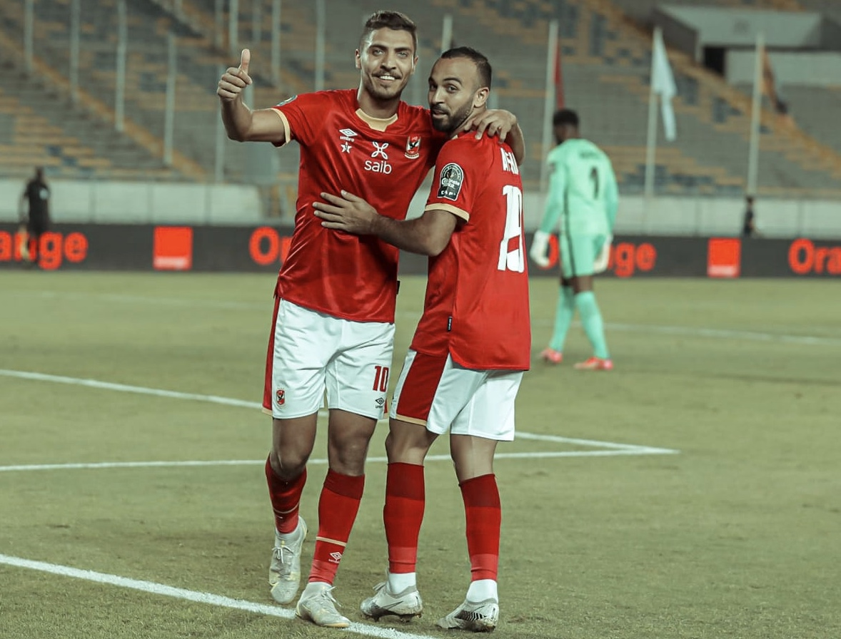 دوري أبطال إفريقيا| محمد شريف يسجل الهدف الأول للأهلي في مرمى كايزر تشيفز