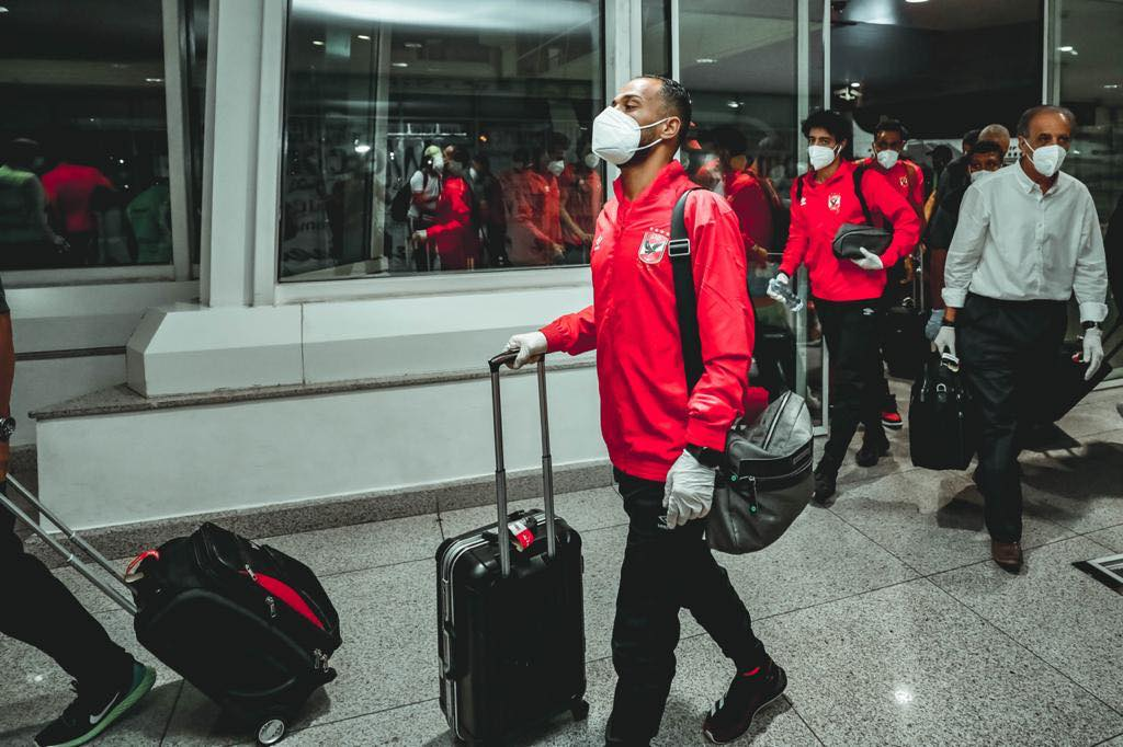 بعثة الأهلي من ملعب محمد الخامس إلى مطار الدار البيضاء