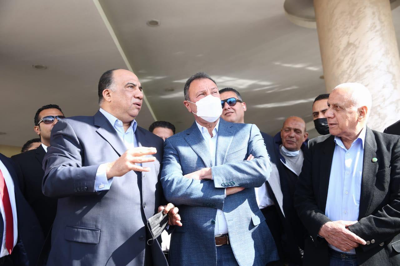 زيارة الكابتن محمود الخطيب لنادي الاتحاد السكندري
