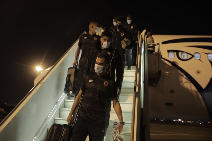 دوري أبطال إفريقيا| بعثة الأهلي تصل إلى مطار الخرطوم