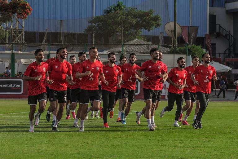 مران الأهلي| تدريبات بدنية وتقسيمة بعد انتهاء فترة الراحة