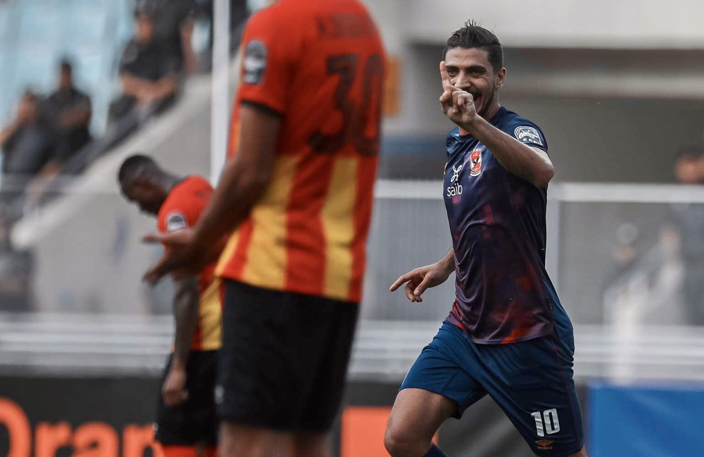 دوري أبطال إفريقيا  محمد شريف يسجل الهدف الأول للأهلي في مرمى الترجي