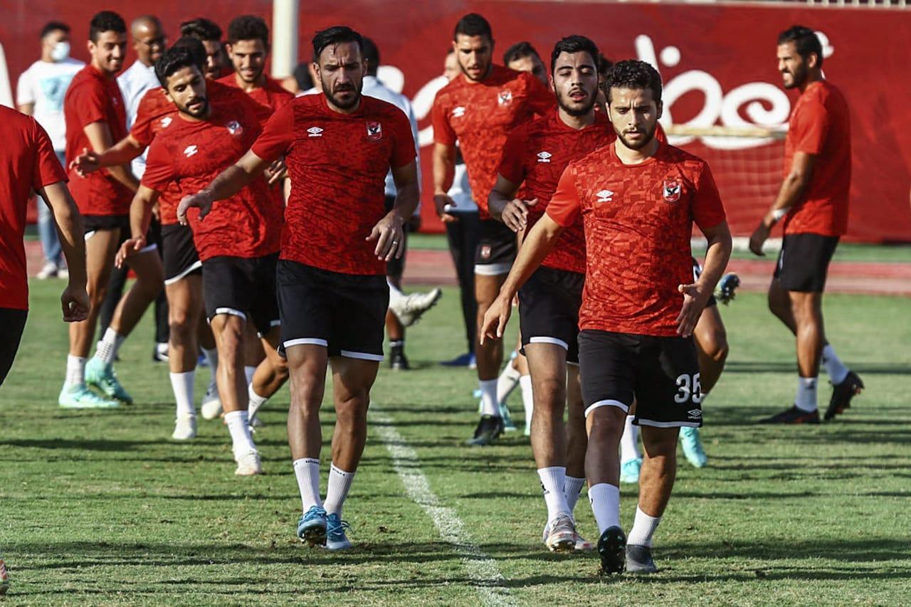 مران الأهلي| الجهاز الفني يركز على تدريبات الكرة
