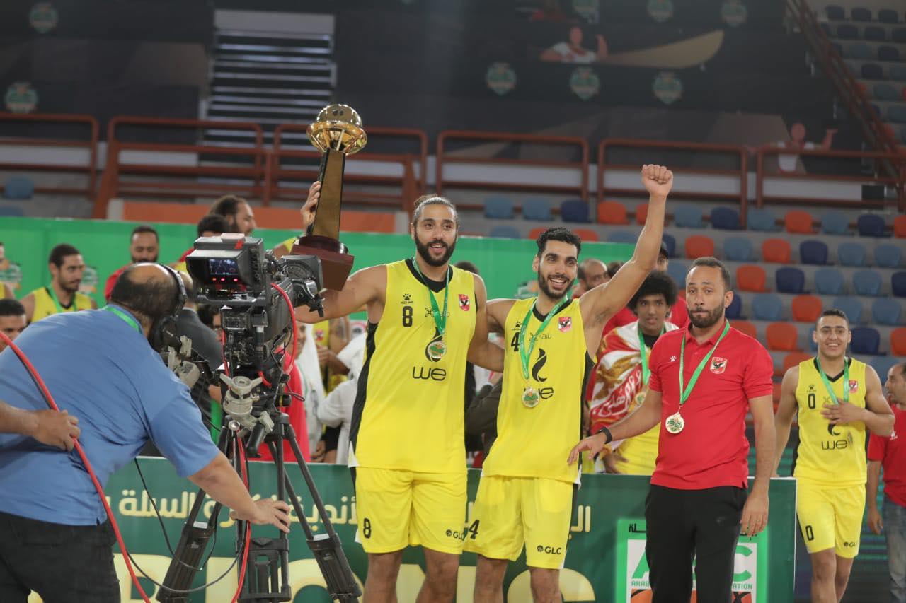 «رجال سلة الأهلي»  سيف سمير: الفوز بالبطولة العربية مجرد بداية للتتويج بالمزيد من البطولات