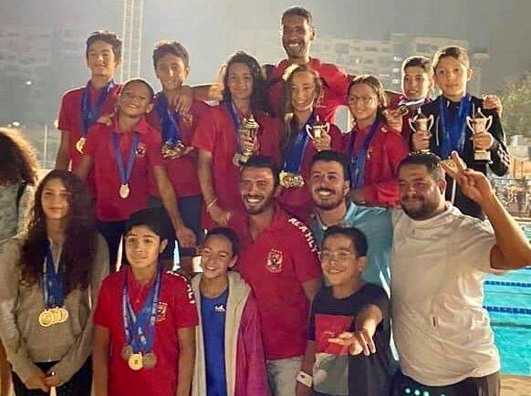 سباحة الأهلي  فريق 11 سنة يتوج ببطولة منطقة القاهرة