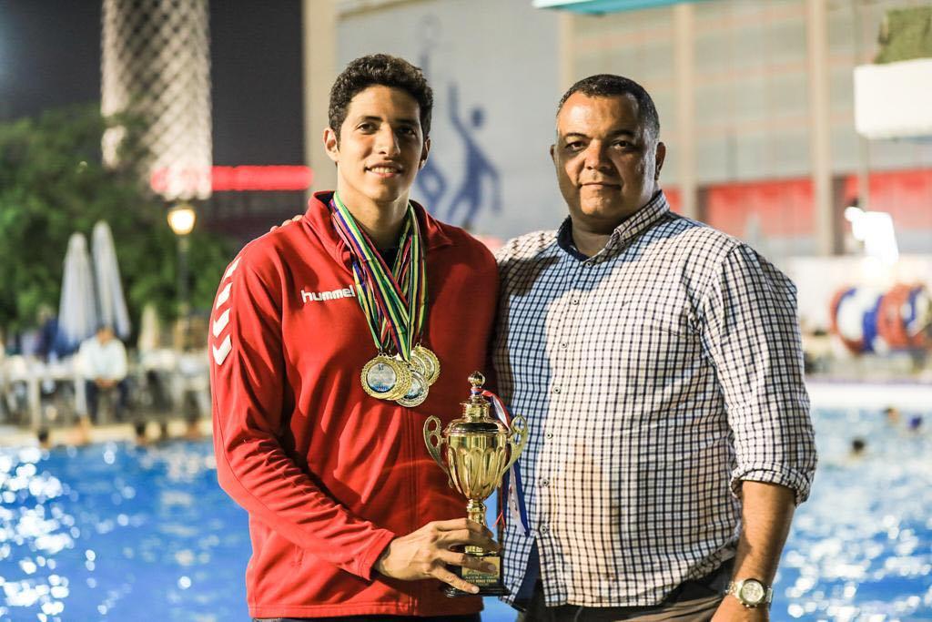 سباح الأهلي يحصد 9 ميداليات ذهبية وفضية في بطولة إفريقيا