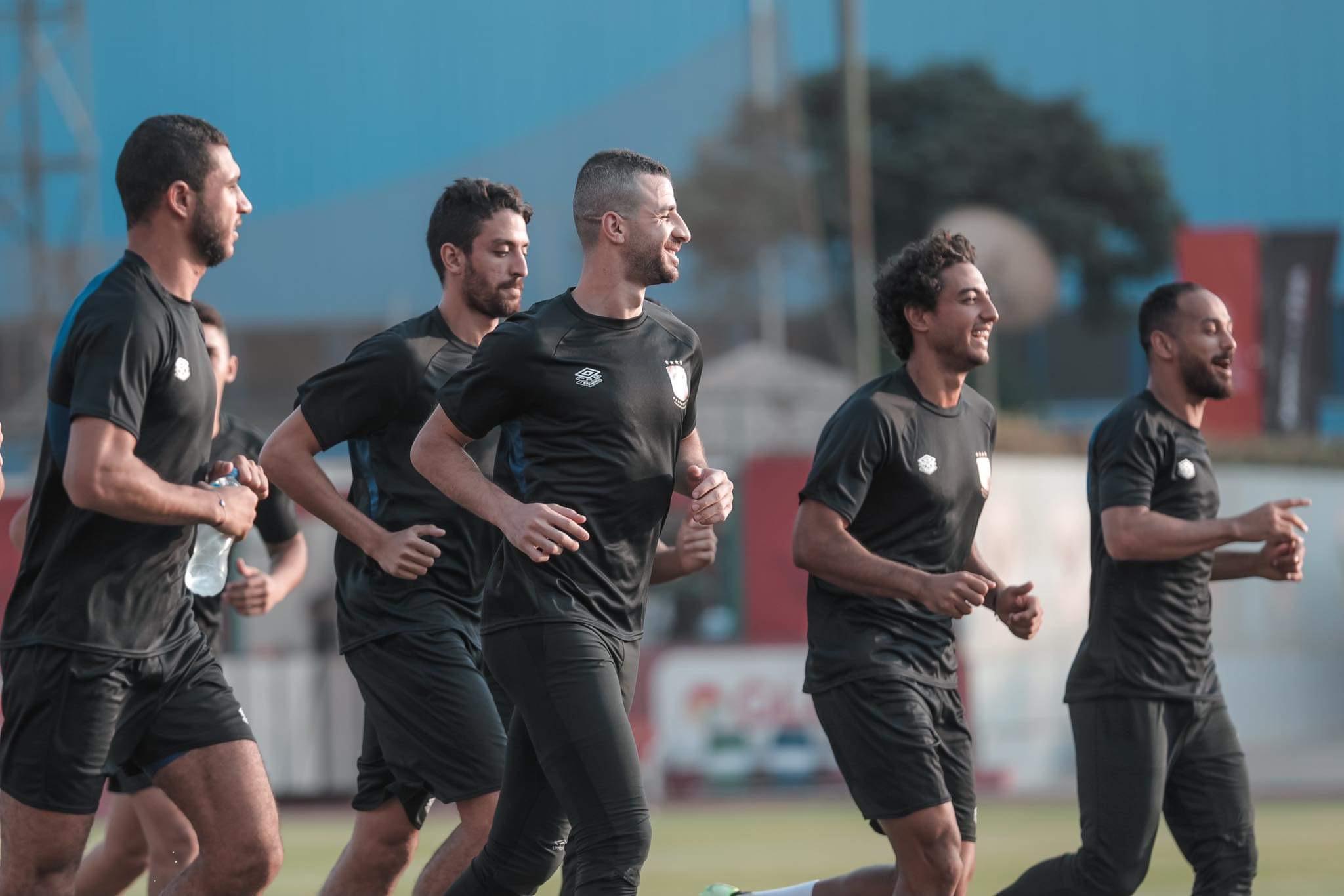 مران الأهلي| تقسيمة قوية للاعبين بطول الملعب