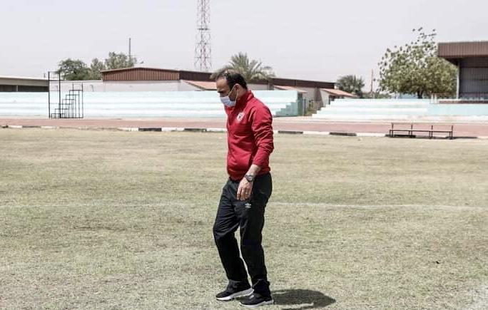 دوري أبطال إفريقيا| سيد عبدالحفيظ يعاين ملعب الرياضة العسكري قبل مران الأهلي