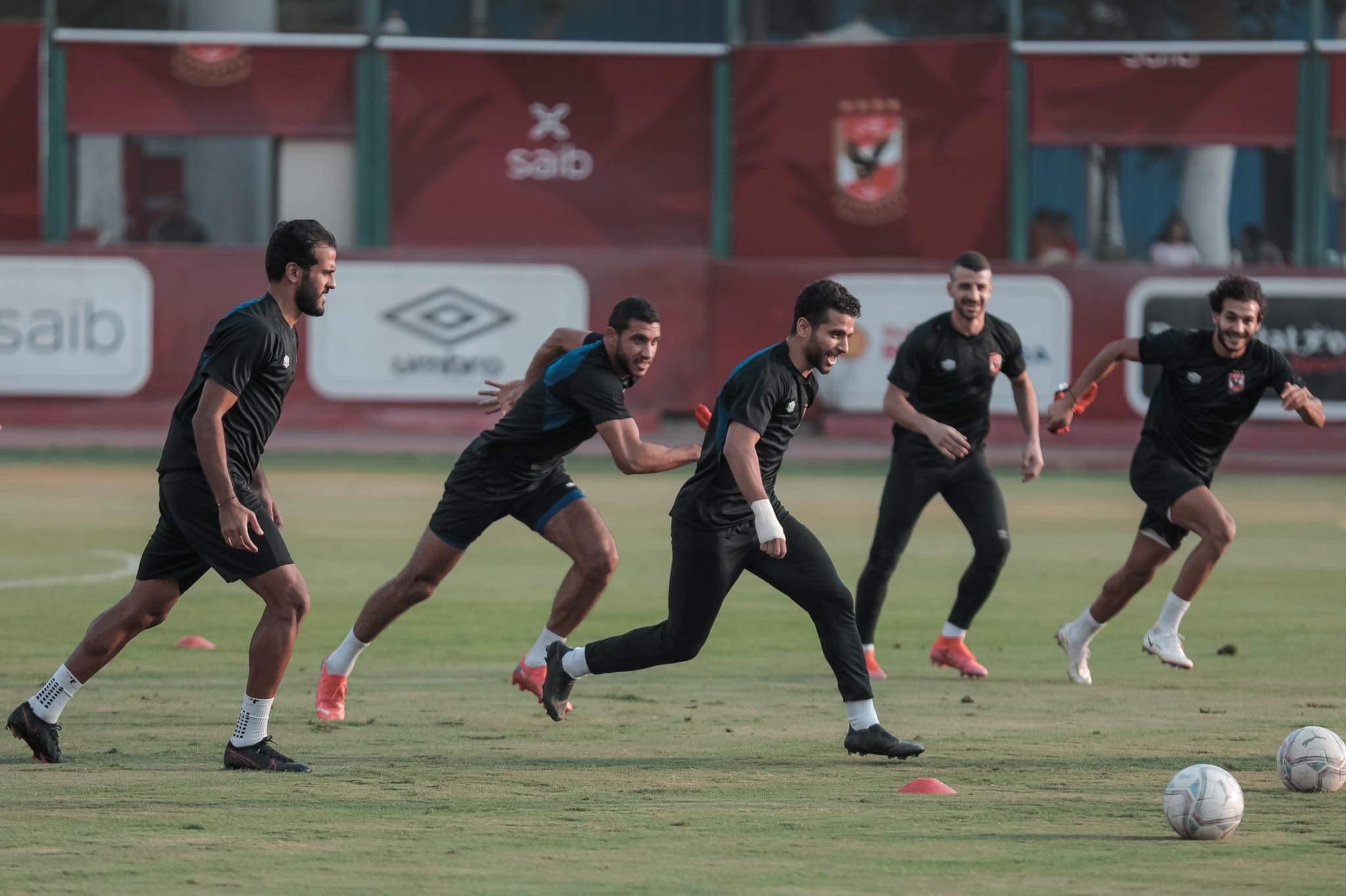 مران الأهلي| تدريبات بدنية متنوعة للاعبين