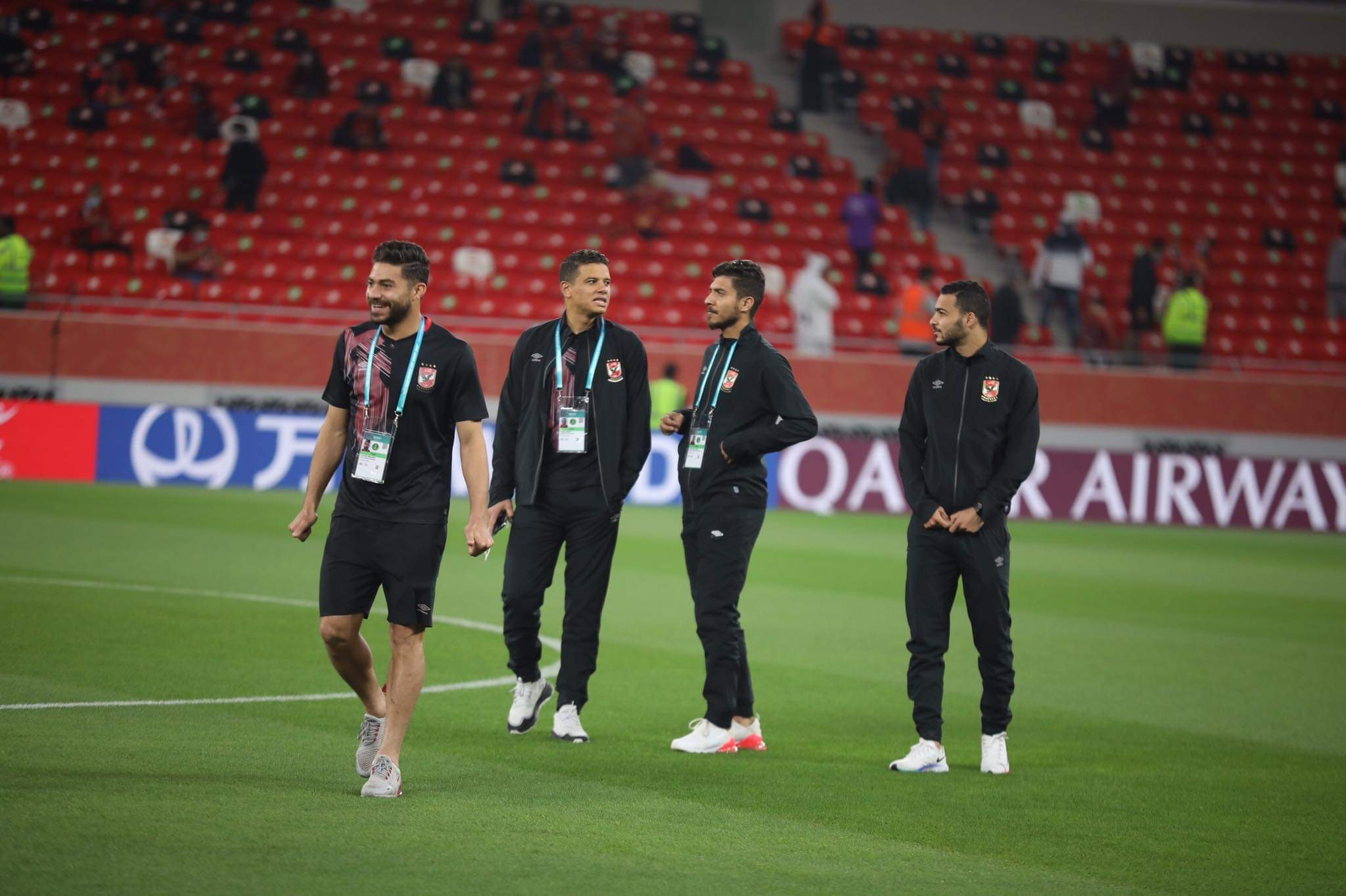 الأهلي في المونديال| لاعبو الفريق يتفقدون ملعب أحمد بن علي