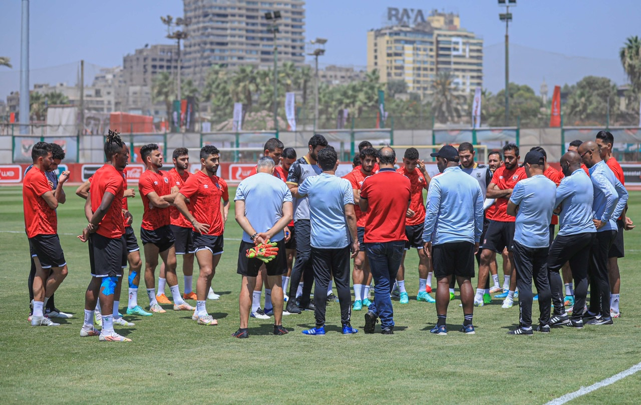 مران الأهلي| موسيماني يطالب اللاعبين بالتركيز في مباراة المقاصة