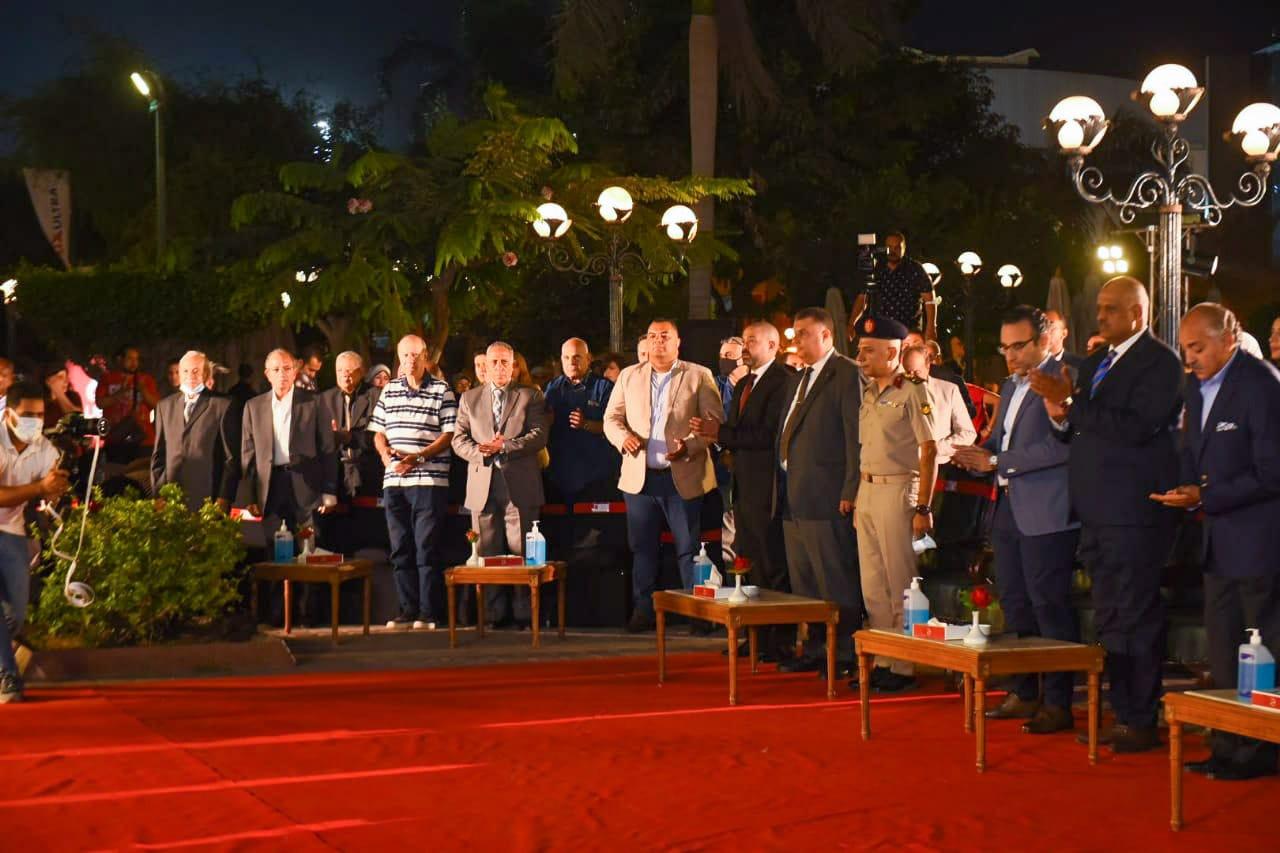 دقيقة حداد على أرواح شهداء القوات المسلحة في احتفالية الأهلي بنصر أكتوبر المجيد