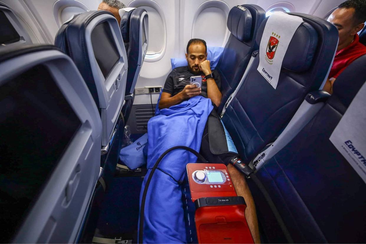 دوري أبطال إفريقيا  جلسة استشفاء لـ«وليد سليمان» في الطائرة