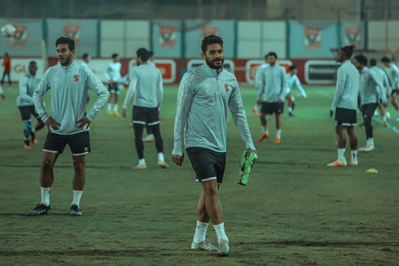 مران الأهلي| ياسر إبراهيم يشارك في التدريبات الجماعية