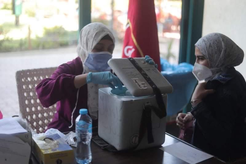 حملة تطعيم لأعضاء الأهلي بفرع مدينة نصر ضد فيروس كورونا