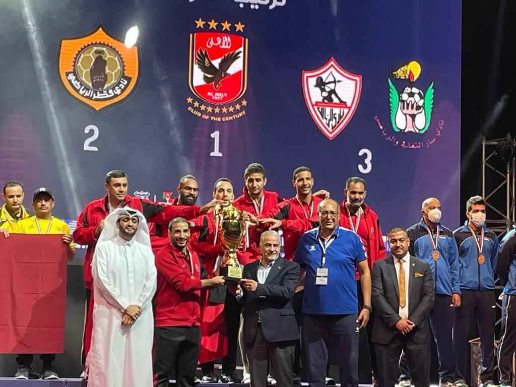 تنس طاولة الأهلي| فريق الرجال يتوج بلقب البطولة العربية