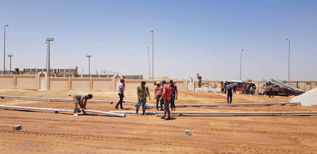 استاد النادي الأهلي| استعدادات وتجهيزات خاصة في الشيخ زايد لاستقبال الحدث التاريخي غدًا