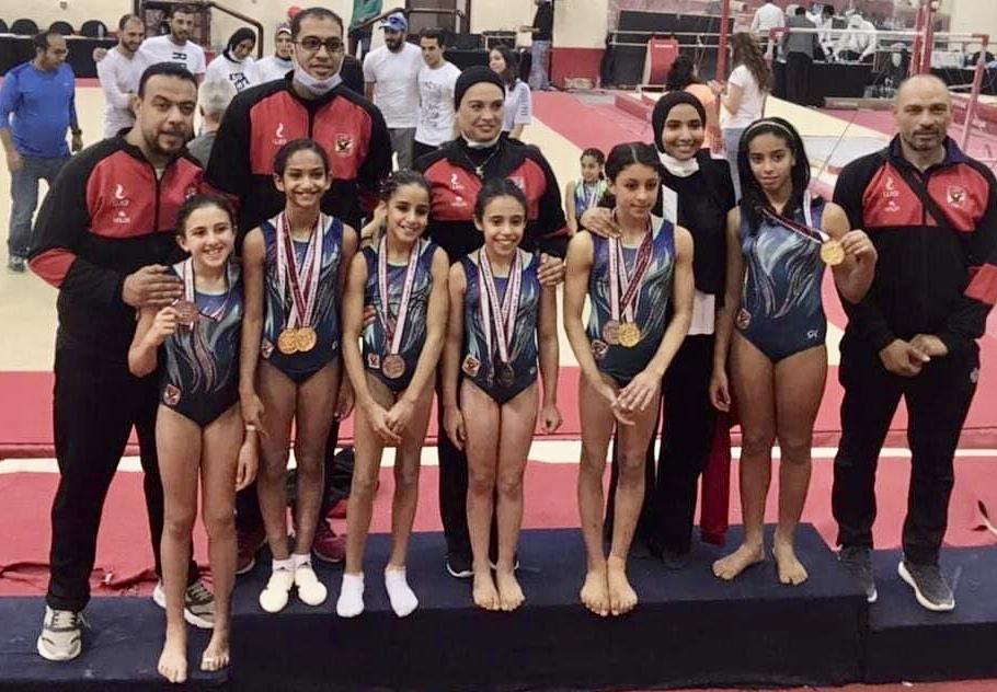«ناشئات جمباز الأهلي» يتوج بـ14 ميدالية في بطولة الجمهورية