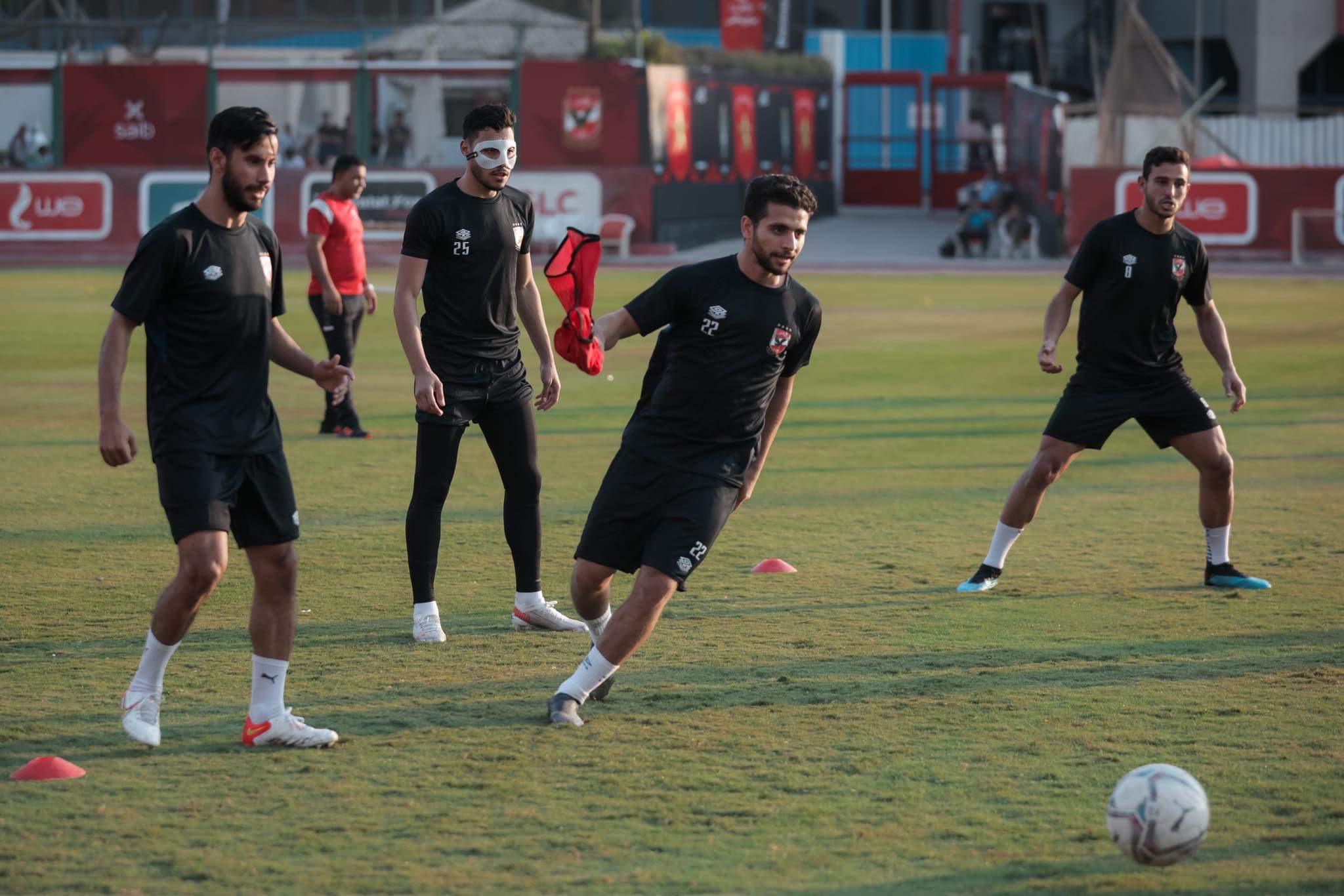 مران الأهلي| «تراي ماتش» بين اللاعبين في ختام التدريبات