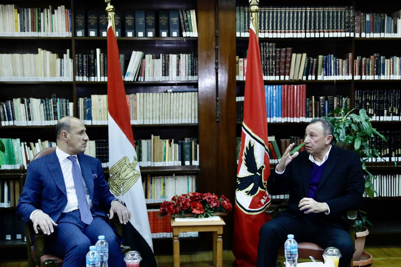 El Khatib Receives Iraqi Minister of Youth and Sports